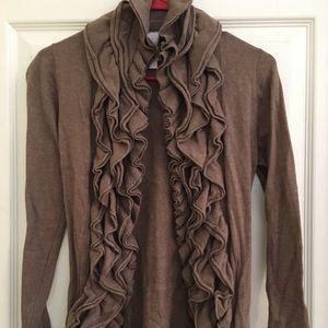 Ruffled cardigan Sweater